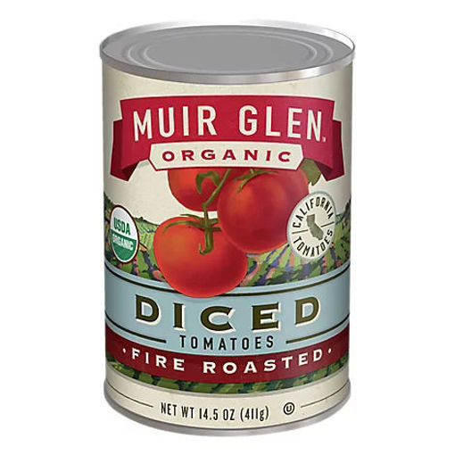 Picture of Muir Glen Tomatoes Organic Diced Fire Rosted - 14.5 Oz
