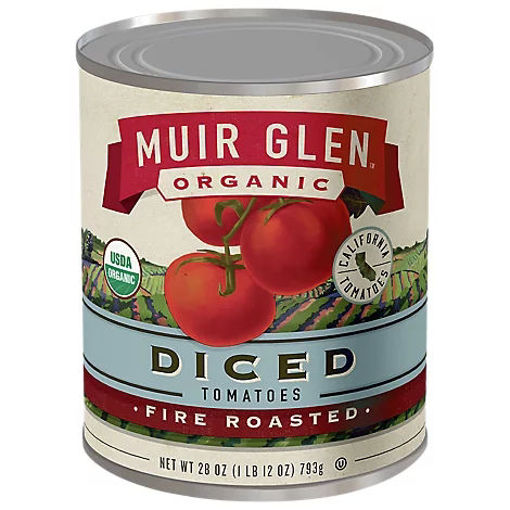 Picture of Muir Glen Tomatoes Organic Diced Fire Rosted - 28 Oz
