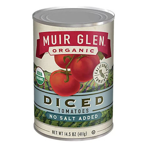 Picture of Muir Glen Tomatoes Organic Diced No Salt Added - 14.5 Oz