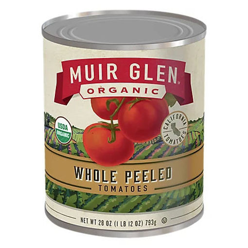 Picture of Muir Glen Tomatoes Organic Peeled Whole - 28 Oz
