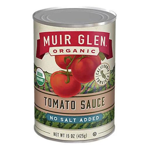 Picture of Muir Glen Tomatoes Organic Tomato Sauce No Salt Added - 15 Oz
