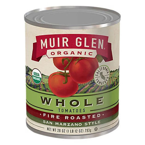 Picture of Muir Glen Tomatoes Organic Whole Fire Roasted San Marzano Style - 28 Oz