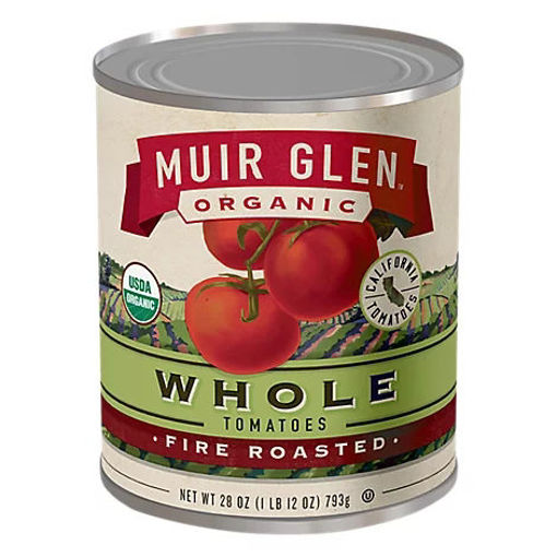Picture of Muir Glen Tomatoes Organic Whole Fire Roasted - 28 Oz