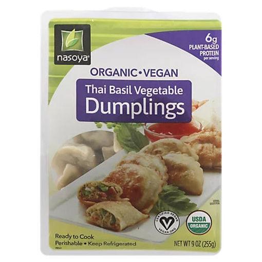 Picture of Nasoya Organic Dumplings Thai Basil Vegetable - 9 Oz
