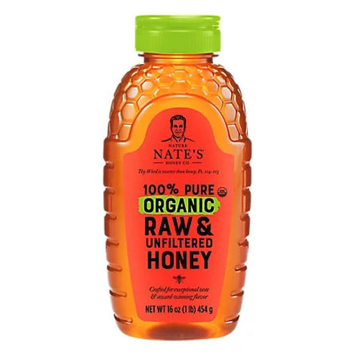 Picture of Nature Nates Organic Honey Raw & Unfiltered - 16 Oz