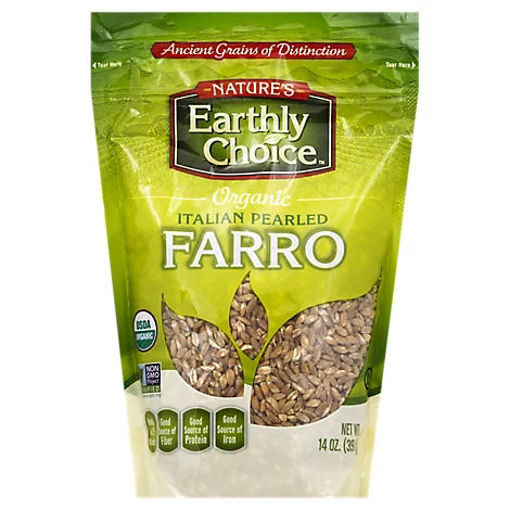 Picture of Natures Earthly Choice Organic Farro Italian Pearled - 14 Oz