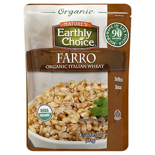 Picture of Natures Earthly Choice Organic Italian Wheat Farro Pouch - 8.5 Oz