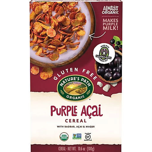 Picture of Natures Path Organic Cereal Gluten Free Purple Bam! - 10.6 Oz