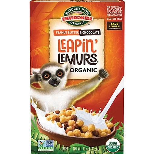 Picture of Natures Path Organic Envirokidz Cereal Leapin Lemurs Peanut Butter & Chocolate - 10 Oz