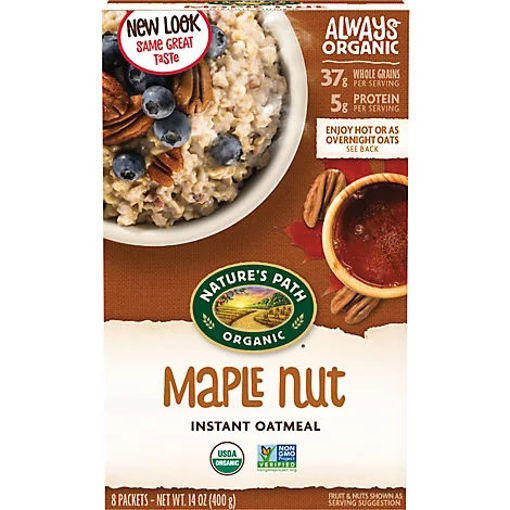 Picture of Natures Path Organic Hot Oatmeal Maple Nut - 14 Oz