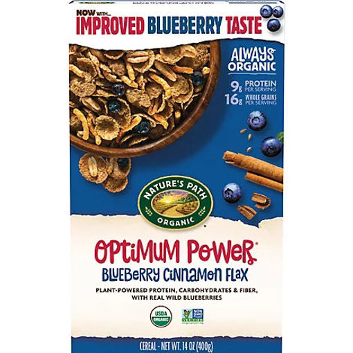 Picture of Natures Path Organic Optimum Power Cereal Blueberry Cinnamon Flax - 14 Oz