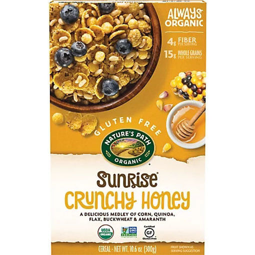 Picture of Natures Path Organic Sunrise Cereal Gluten Free Crunchy Honey - 10.6 Oz