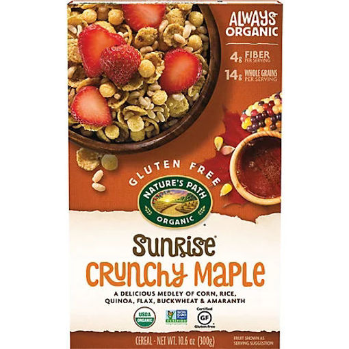 Picture of Natures Path Organic Sunrise Cereal Gluten Free Crunchy Maple - 10.6 Oz