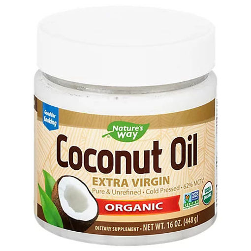Picture of Natures Way Efagold Coconut Oil Dietary Supplement Organic - 16 Oz