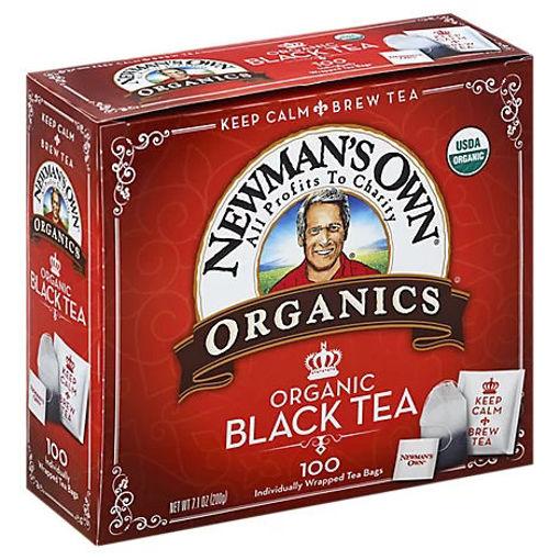 Picture of Newmans Own Organics Black Tea 100 Count - 7.1 Oz
