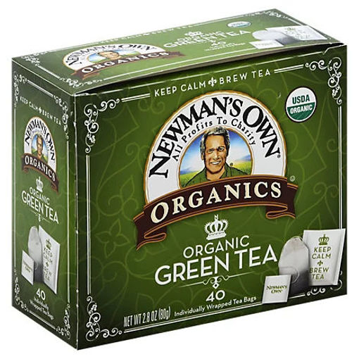 Picture of Newmans Own Organics Green Tea Royal 40 Count - 2.82 Oz