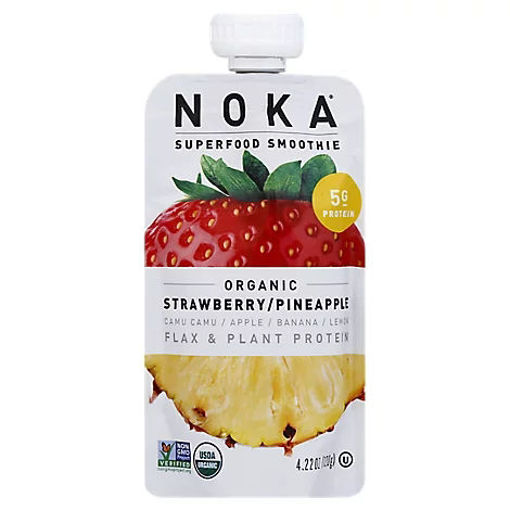 Picture of Noka Superfood Smoothie Organic Strawberry Pineapple - 4.22 Oz