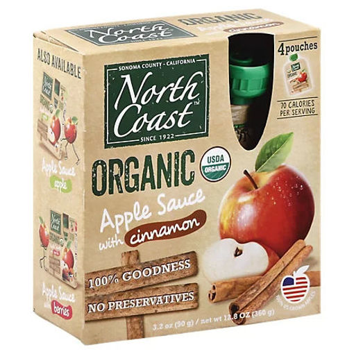 Picture of North Coast Organic Apple Sauce With Cinnamon Pouches - 4-3.2 Oz