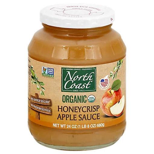 Picture of North Coast Organic Apple Sauce Honey Crisp - 24 Oz