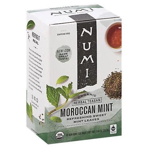 Picture of Numi Herbal Teasan Organic Tea Caffeine Free Moroccan Mint 18 Count - 1.40 Oz