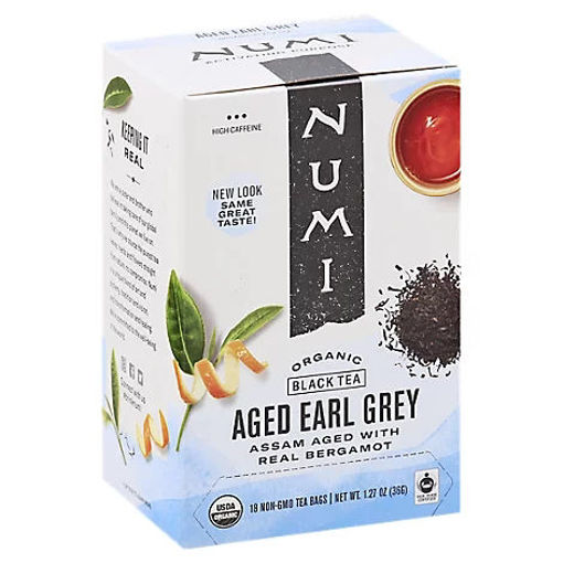 Picture of Numi Organic Black Tea Aged Earl Grey 18 Count - 1.27 Oz