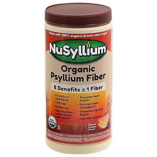 Picture of NuSyllium Organic Natural Fiber Natural Orange Flavor - 30.5 Oz