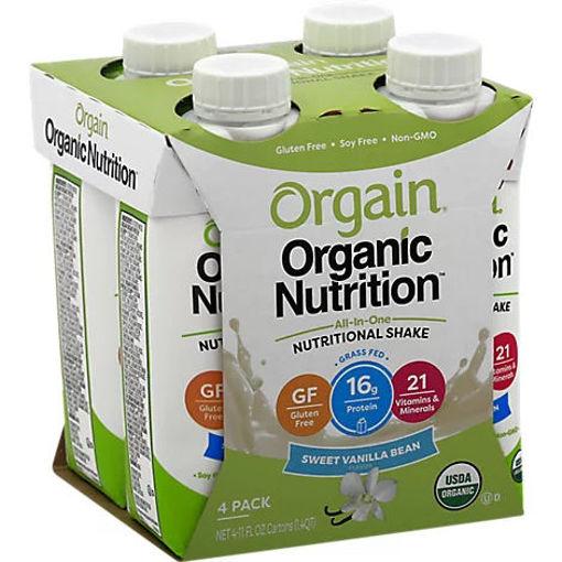 Picture of Orgain Organic Nutrition Protein Shake Complete Sweet Vanilla Bean - 4-11 Fl. Oz.