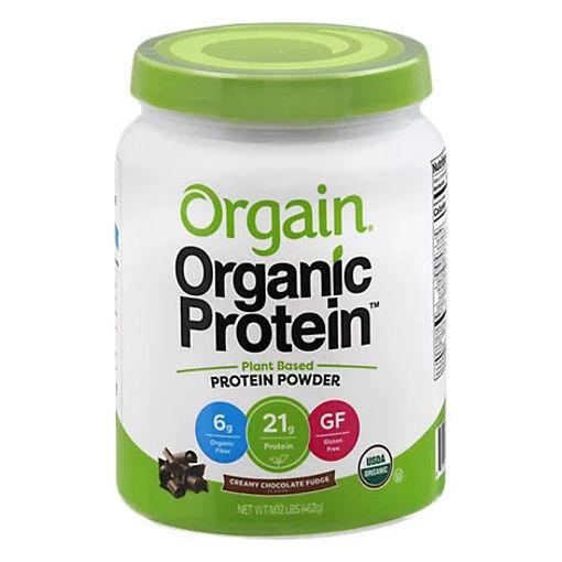 Picture of Orgain Organic Protein Plant Based Powder Creamy Chocolate Fudge - 1.02 Lb