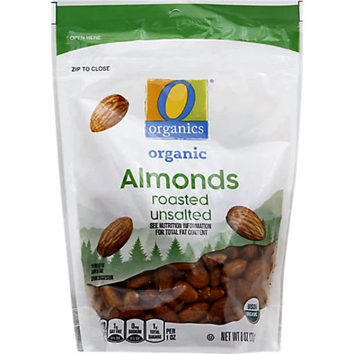 Picture of Organic Almonds Roasted Unsalted - 8 Oz