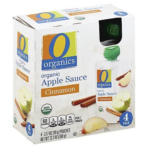 Picture of Organic Apple Sauce Cinnamon Pouches - 4-3.17 Oz