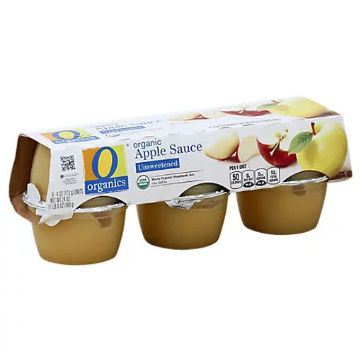 Picture of Organic Apple Sauce Unsweetened Cups - 6-4 Oz