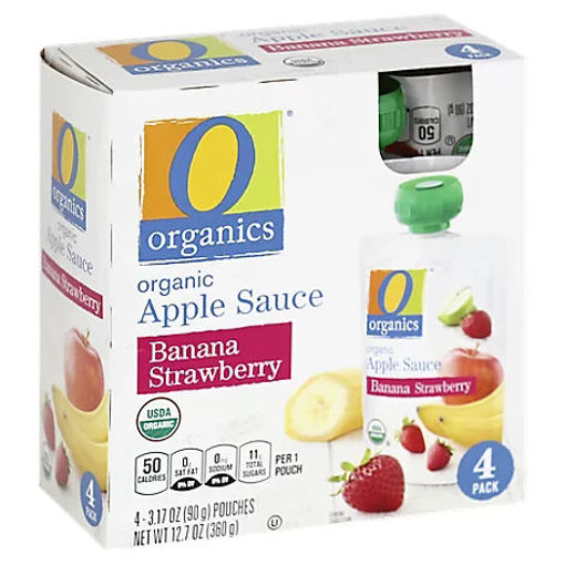 Picture of Organic Apple Sauce Banana Strawberry Pouches - 4-3.17 Oz