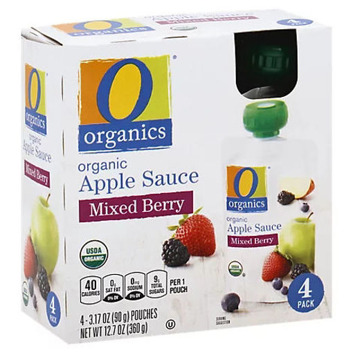 Picture of Organic Apple Sauce Mixed Berry Pouches - 4-3.17 Oz