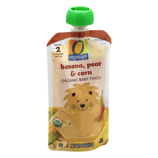 Picture of Organic Baby Food Stage 2 Banana Pear & Corn - 4 Oz
