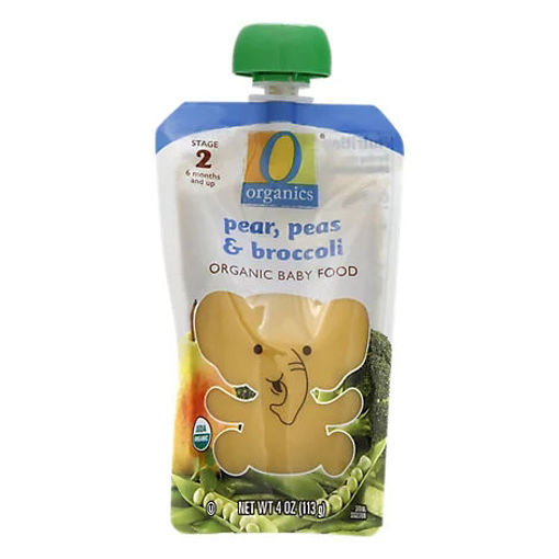 Picture of Organic Baby Food Stage 2 Pears Peas & Broccoli - 4 Oz