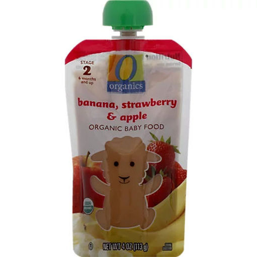 Picture of Organic Baby Food Stage 2 Banana Strawberry & Apple - 4 Oz