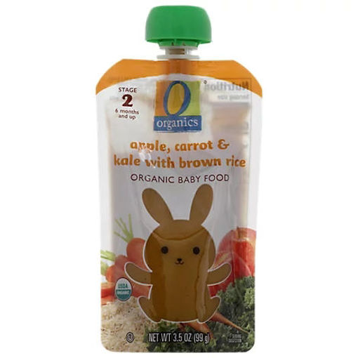 Picture of Organic Baby Food Stage 2 Apple Carrot & Kale With Brown Rice - 3.5 Oz
