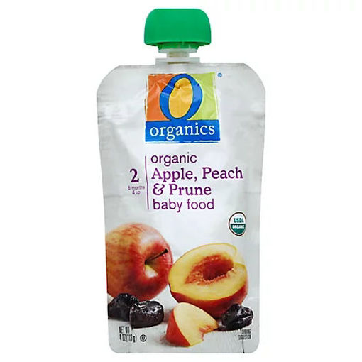 Picture of Organic Baby Food Stage 2 Apple Peach & Prune - 4 Oz