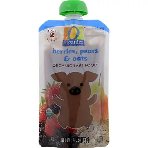 Picture of Organic Baby Food Stage 2 Berries Pear & Oats - 4 Oz