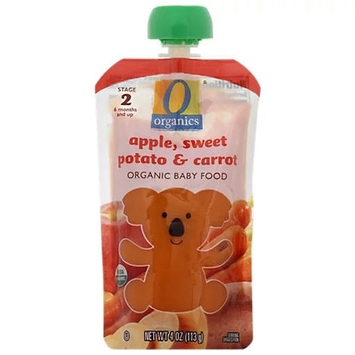 Picture of Organic Baby Food Stage 2 Apple Sweet Potato & Carrot - 4 Oz