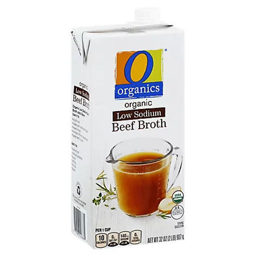 Picture of Organic Broth Low Sodium Beef - 32 Oz