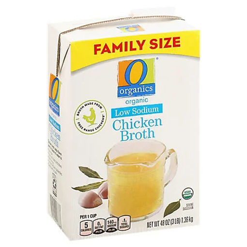 Picture of Organic Broth Low Sodium Chicken Flavored - 48 Oz