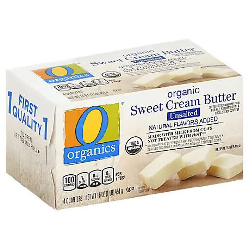 Picture of Organic Butter Sweet Cream Unsalted 4 Count - 16 Oz