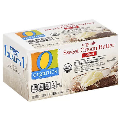 Picture of Organic Butter Sweet Cream Salted 4 Count - 16 Oz