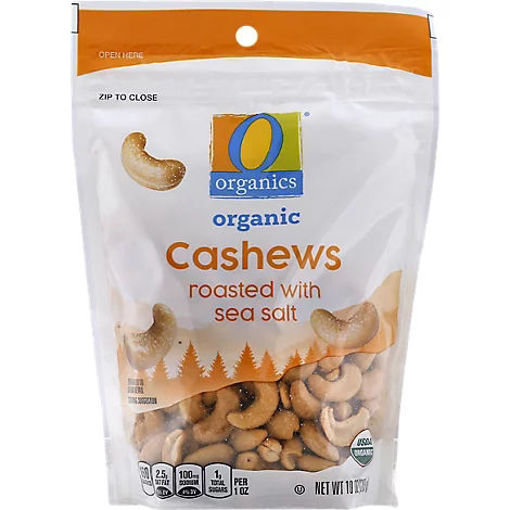 Picture of Organic Cashews Roasted with Sea Salt - 10 Oz