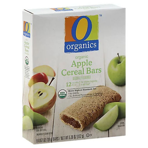 Picture of Organic Cereal Bars Apple - 8-0.67 Oz