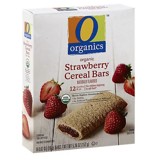 Picture of Organic Cereal Bars Strawberry - 8-0.67 Oz