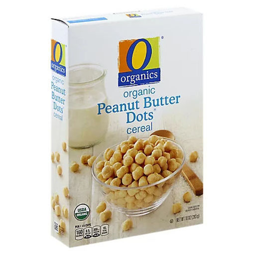 Picture of Organic Cereal Sweetened Peanut Butter Flavored Peanut Butter Dots - 10 Oz