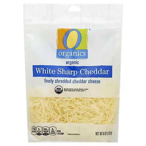 Picture of Organic Cheese Cheddar White Sharp Shredded - 6 Oz