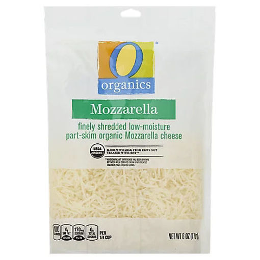 Picture of Organic Cheese Finely Shredded Low-Moisture Part-Skim Mozzarella - 6 Oz